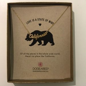 DOGEARED gold California necklace